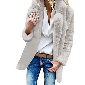 LILICATⓁ ¡¡¡Caliente Abrigo de Lana de imitación cálido, Chaqueta de Solapa