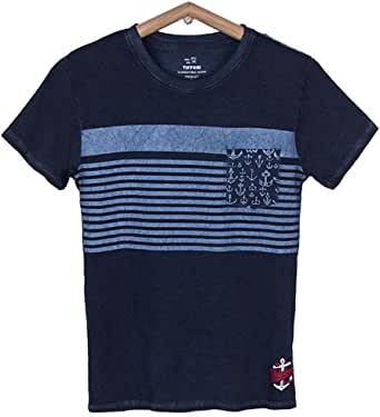 Tiffosi Camiseta Niño Camiseta Rayas Bolsillo: Amazon.es: Ropa y accesorios