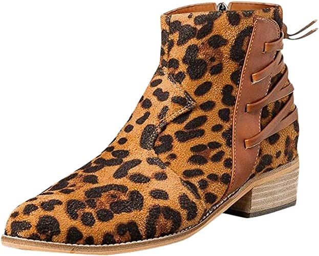 Elegant Leopard Print Low Heel and