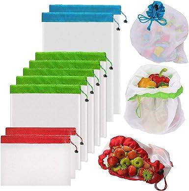 Reusable Mesh Produce Bags Washable Eco Friendly Bags