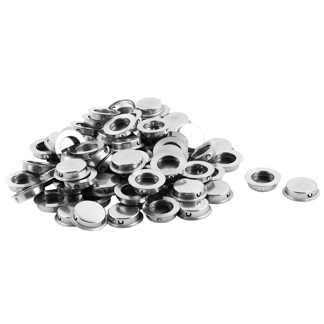 uxcell Stainless Steel Drawer Closet Embedded Round Flush Pull Handles 35mm Dia 80 PCS