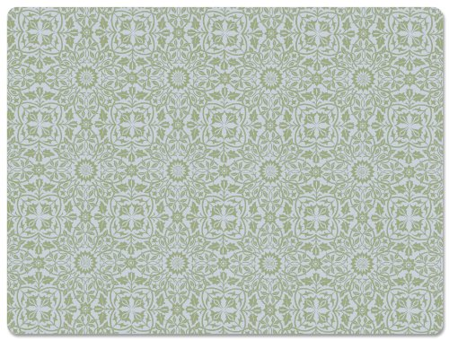 Inspired William Morris (Hadley Table William Blue and Green Hard Placemats SET OF 4)