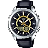 Casio AMW810L-1A Black Leather Active Dial Watch