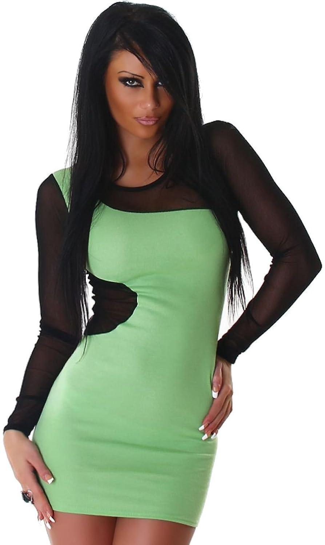 Lilli Damen Minikleid zweifarbig & transparent abgesetzt