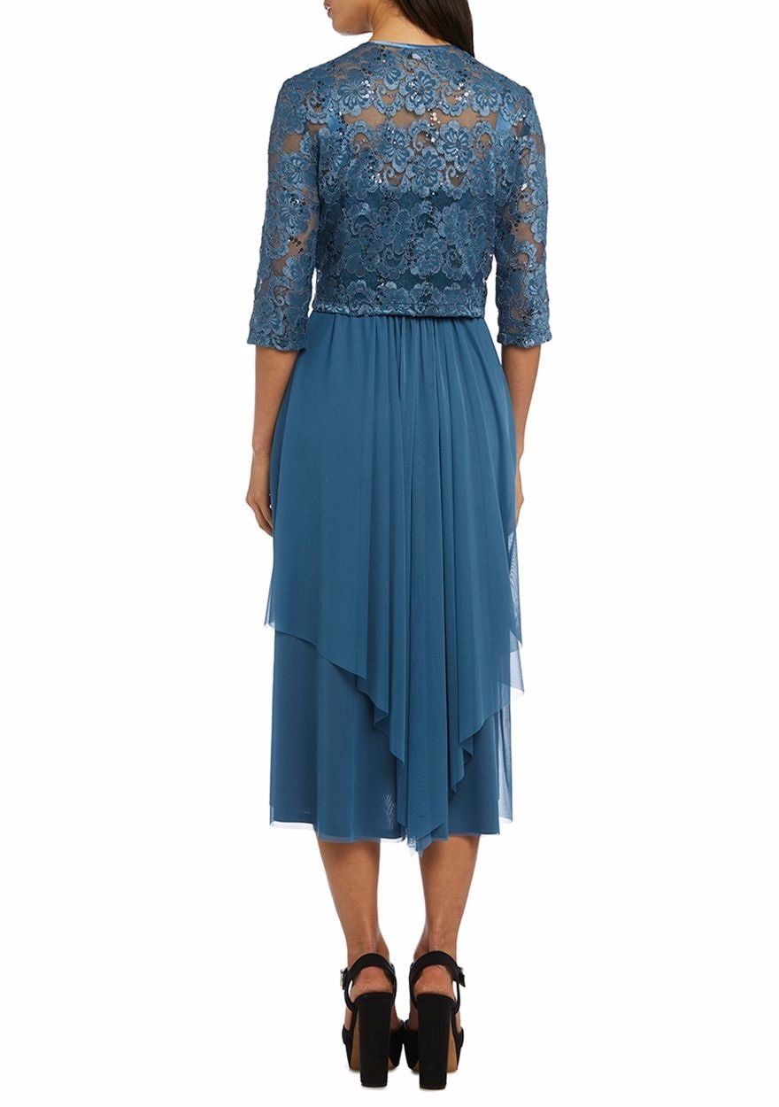 RM Richards Women Floral Lace Bolero Jacket Dress - Mother Of The ...