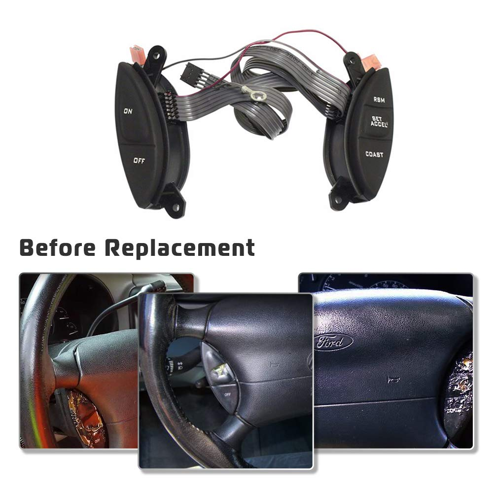 Interior Steering Wheel Cruise Control Switch For Ford 1998-2003 ...