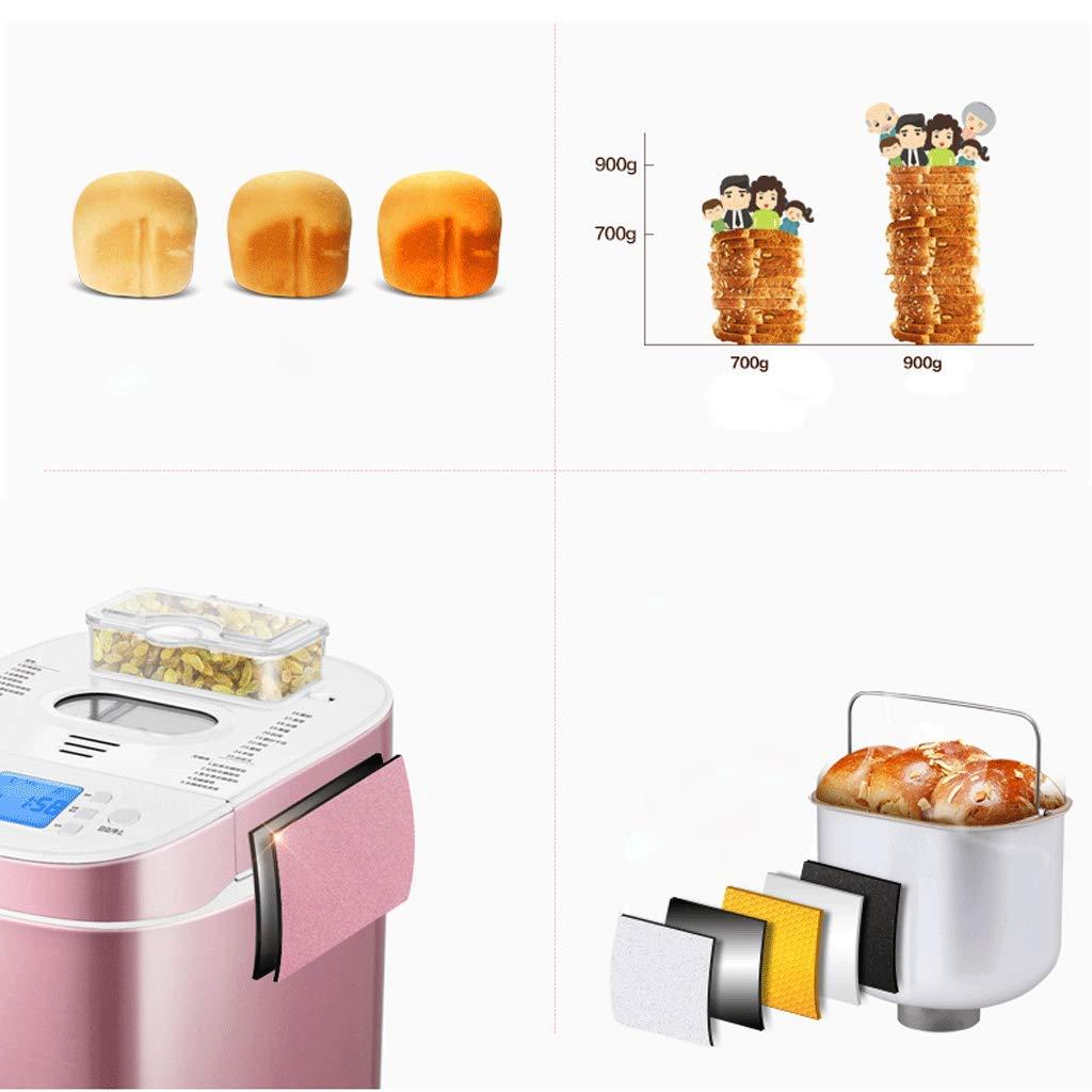 Digital Bread Maker con dispensador automático de ingredientes: 18 funciones predefinidas de 550W, que incluyen masa libre de gluten y masa fermentada, ...