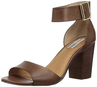 656ad16c653 Steve Madden Womens Bellle Faux Leather Dress Sandals Black 7.5 Medium (B
