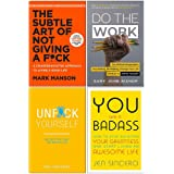 The Subtle Art of Not Giving A F*ck [Hardcover], Do the Work, Unfuk Yourself, You Are a Badass 4 Books Collection Set