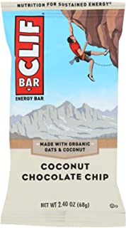 product image for Clif Bar Organic Coconut Chocolate Chip Nutrition Bar, 2.4 Ounce - 12 per case.