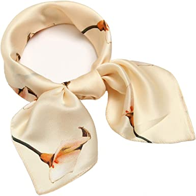 Soft Polyester Silk Lightweight Scarves For Women Fashion Print Lovely Childrens Ornaments Little Rabbit Scarves For Women Lightweight Bandana Neckerchief Hair Square Scarf Multiple Ways Of