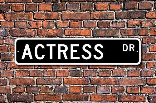 Actress Gift, Actress Decor, Actress Sign, Gift for Actress, Sign for Actress, Custom Street Sign, Quality Metal Sign, Dressing room sign 4 x 18 inch