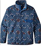 Patagonia Men's Synchilla Snap-T Pullover (Large, Lifecycle/Glass Blue)