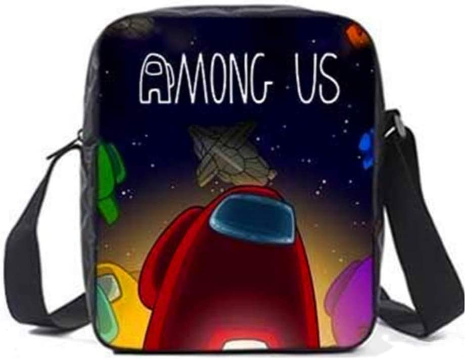 Among Us Teens Schoolbag Backpack Casual Shoulder Bag with Insulated Lunch Box Pencil Case Box Boys Girls 3 Pieces Set