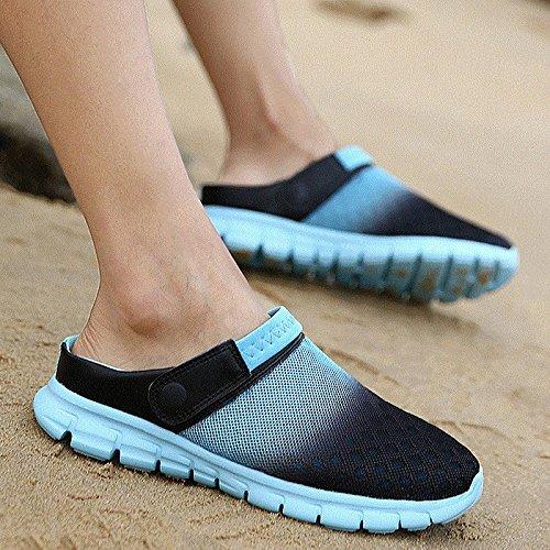 Xing Lin Sandalias De Hombre Los Hombres Del Agujero De Verano Zapatos Zapatillas Zapatillas De Playa De Ventilación De Tendencia Media Zapatillas Honeycomb Sandpiper Sandalias blue