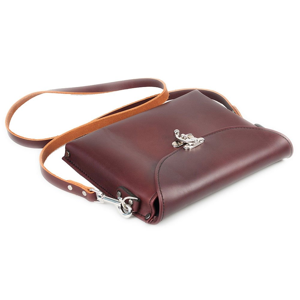 Occidental Leather 1155 Premium Oxblood Colored Leather iPad Carry Case with Shoulder Strap and Nickel Plated Clasp by Occidental Leather