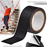 UEETEK 10M High Grip Anti Slip Tape Non Slip Adhesive Backed Tape (Black)