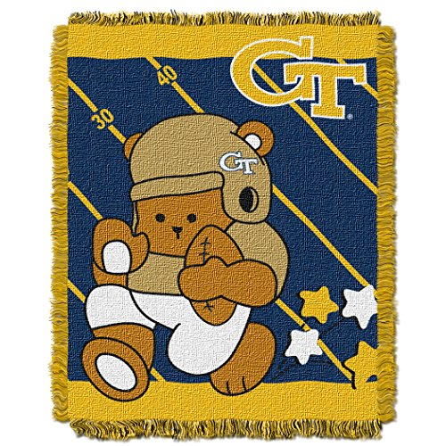 The Northwest Company Officially Licensed NCAA Georgia Tech Yellow Jackets Fullback Woven Jacquard Baby Throw Blanket, 36