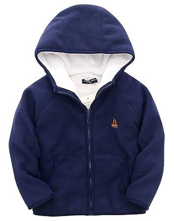 da4529b5952d Toddler Boys Hoodies Jacket Cartoon Winter Coat with Zipper for Kids ...