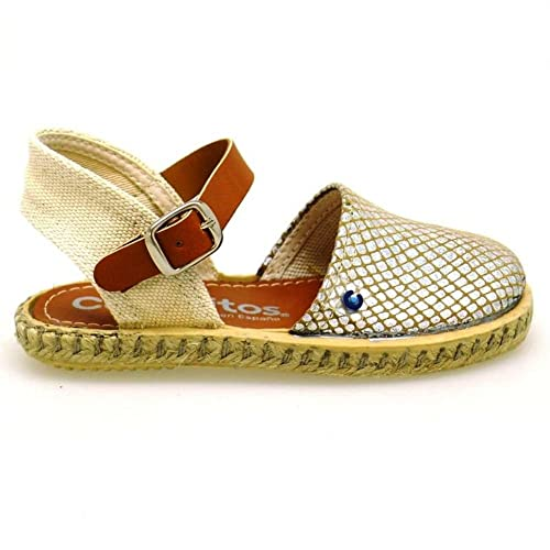 Conguitos Alpargatas Cáñamo Niña GV1 21552 Platino: Amazon.es: Zapatos y complementos
