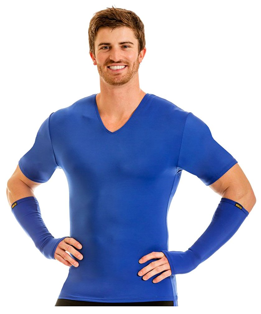 Insta Slim V-Neck Shirt (Royal, S)