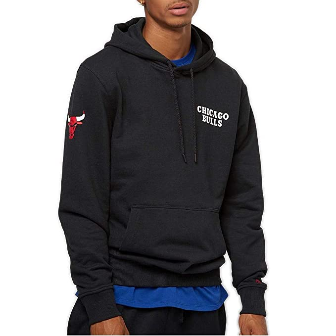A NEW ERA Sudadera Capucha NBA Chicago Bulls Team Apparel Po Negro Talla: M (