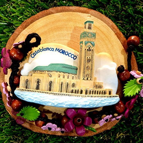 3D Refrigerator magnet Casablanca Morrocco Flag Gift & - Clear Nyc Internet