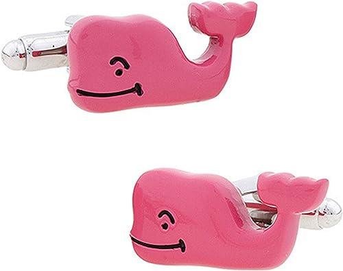 AmDxD Gemelos de Cobre para Hombres Rosa Plateado Ballena Gemelos Camisa Gemelos Hombre 2.2x1.3CM: Amazon.es: Joyería