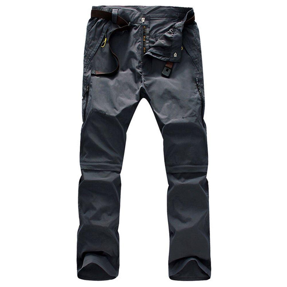 Rmine Trekkinghose Zip Off Atmungsaktiv Wanderhose Outdoor Hose Entfernbar  Schnell Trockend  (mit Gürtel  f3ef4ae0a0
