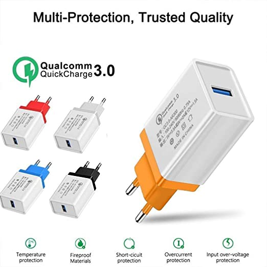 carsge Cargador USB de Pared Quick Charge 3.0 Compatibilidad ...