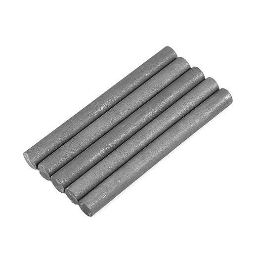 5Pcs Electrodo de Grafito 99,9% de Color Negro Barra de Cilindro (Longitud:100mm, Diámetro:10mm): Amazon.es: Industria, empresas y ciencia