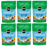 Miracle-Gro 3001710 Wildflower Plant Mix for Water-Wise Landscaping (6-Pack)