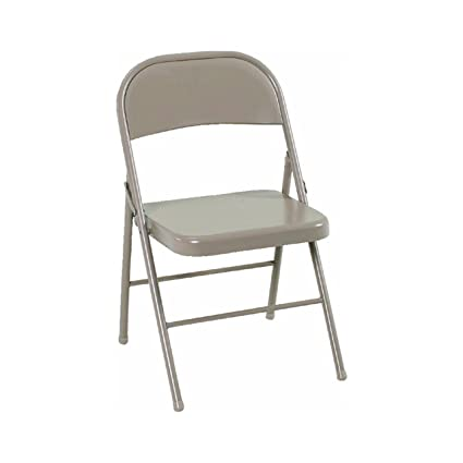 High Quality Cosco All Steel Folding Chair Antique Linen (4 Pack)