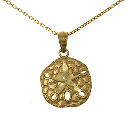 Amazoncom 14k Yellow Gold Nautical Necklace Pendant with Chain