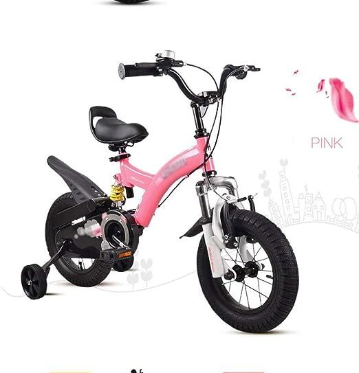 DYFYMXBicicleta niño Bicicleta de Pedal Amortiguador de Bicicleta para niños, vehículo Todoterreno, Bicicleta de montaña, Color Rojo, 16 Pulgadas Ejercicio Seguro para niños y niñas.: Amazon.es: Hogar