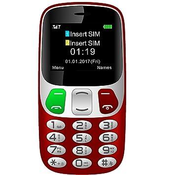 YINGTAI T47 2G Teléfono Móvil para Personas Mayores con Teclas ...