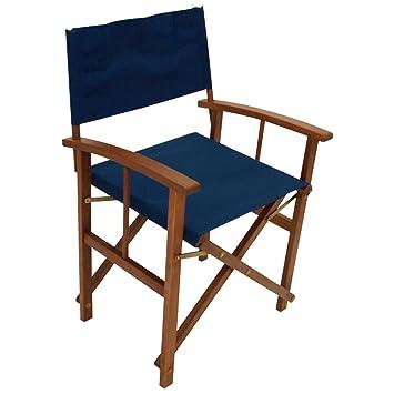 Juego de 2 sillas de director (plegables, estructura de ...