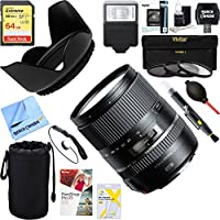 Tamron 16-300mm f/3.5-6.3 Di II VC PZD MACRO Lens for Nikon Cameras (AFB016N-700) + 64GB Ultimate Filter & Flash Photography Bundle