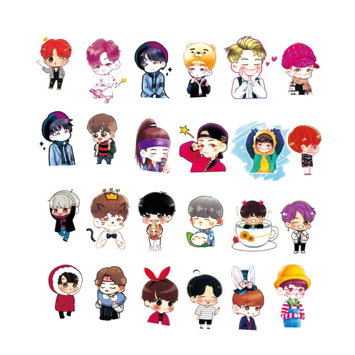 Stickers Calcos 58 un. BTS Bangtan Boys (7HFRQQF1)