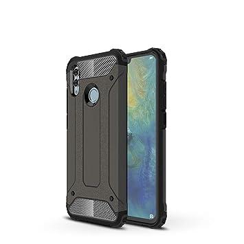 LAGUI Funda Huawei P Smart 2019, Robusto Carcasa TPU/PC de Doble Capa al Aire Libre, Bronce
