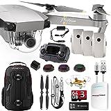 DJI Mavic PRO Platinum UPGRADE COMBO w/ Backpack, Battery, Lens Filters, 64gb+16gb MicroSD, Sunshade, Power Bank Adapter, Battery Bank, iPhone Cable, Lanyard & FREE Mini Drone