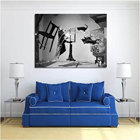 Salvador Dali Uli Hesse Is Pinterest Canvas Painting Print Living Room Home Decor Modern Wall Art Painting Poster Pictures 60x80cm No Frame Amazon Co Uk Kitchen Home