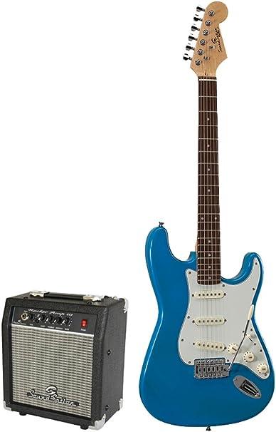 Soundsation Rocker Pack TP guitarra eléctrica azul: Amazon.es: Instrumentos musicales