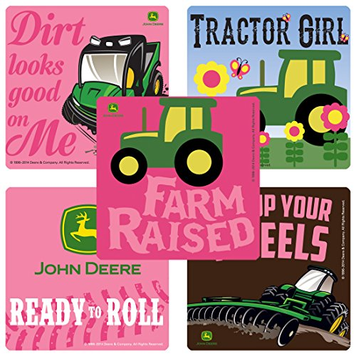 SmileMakers John Deere Pink Stickers - Prizes and Giveaways - 100 per Pack