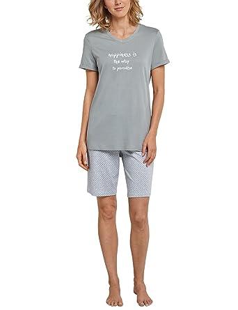 Super Specials neue Version Bestbewertete Mode Schiesser Damen Pyjama Kurz 161050