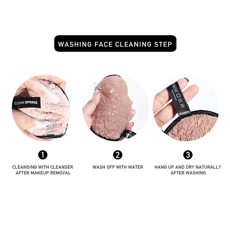 Tampons En Coton Biologique R/éutilisables,Nettoyage du visage Tampons En Coton Biologique. Paquet De 4 Tampons D/émaquillants