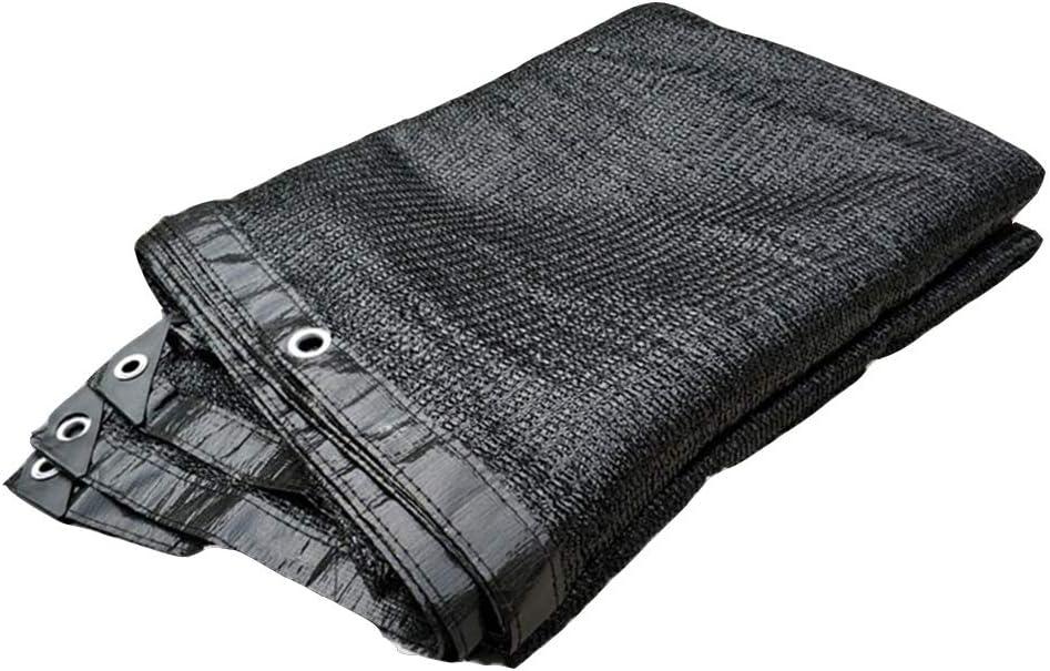 農業用日よけ 黒 80% シェーディング率 暗号化 厚くする 屋外の パティオ フラワーズ ルーフ 絶縁 シェーディングネット 23サイズ シャオリ D (Color : Black, Size : 4x10m)