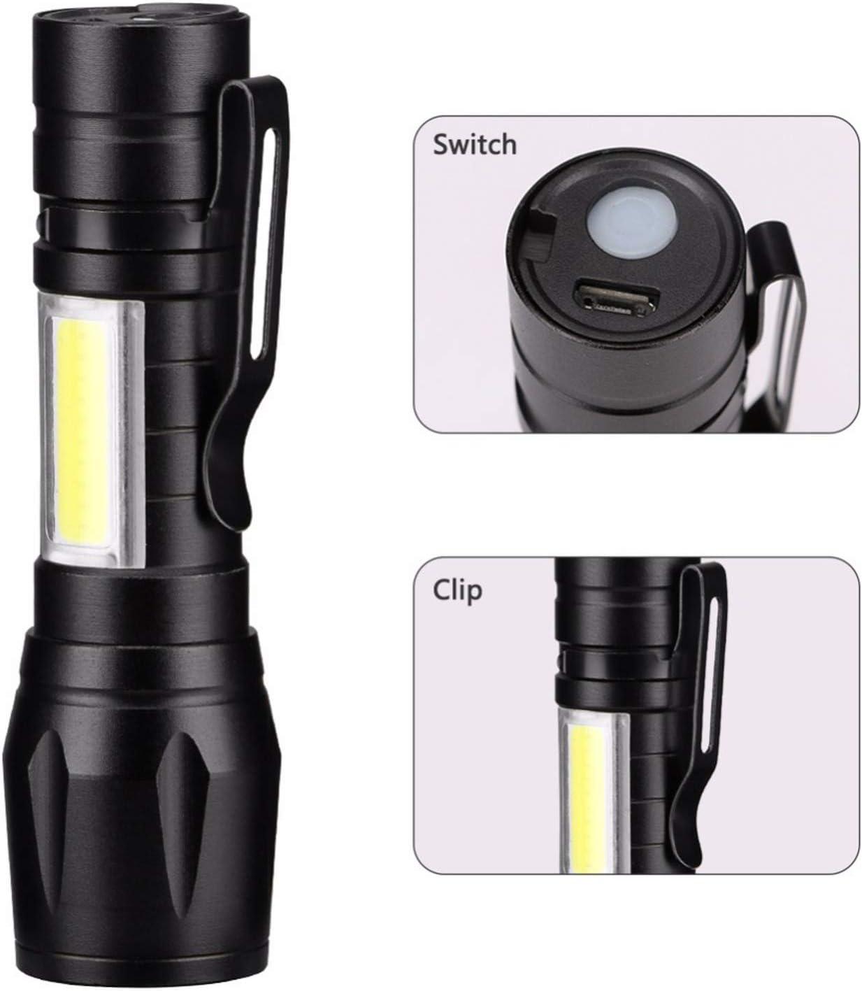 Multifunction Portable XPE+COB LED Work Light Flashlight Torch Tool Micro USB FT