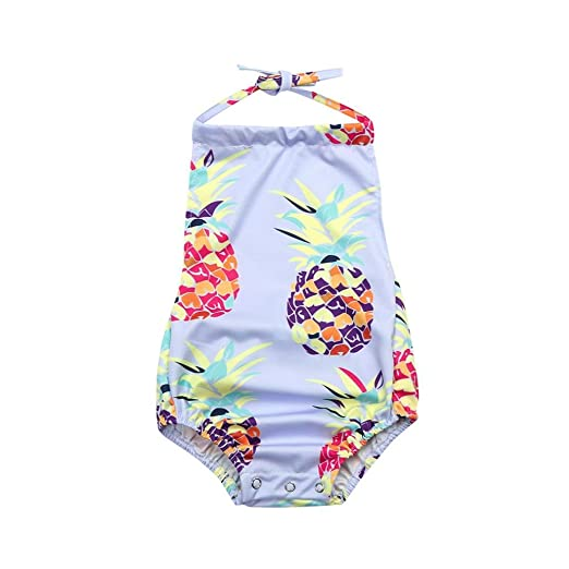 6acbf7d1d362 Amazon.com  TiTCool Baby Girls Swimsuit One Piece Romper Bathing ...