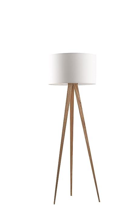 Zuiver 5000806 - Lámpara de pie, madera, color blanco: Amazon.es ...